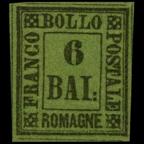 1859 Romagna 6b Stamp Mint Hinged