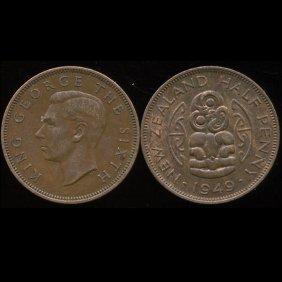 1949 New Zealand 1/2p Unc
