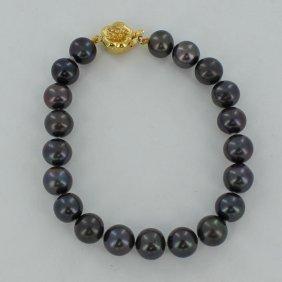 Black Saltwater Pearl Bracelet