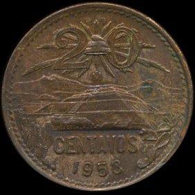 1953 Mexico 20c Ms64+