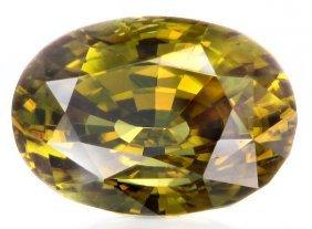 9.46ct Huge Yellow Green Zircon