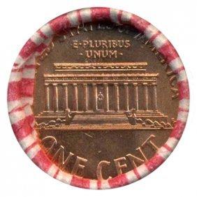 2002d Lincoln 1c Unopened Orig Bank Roll 50 Gems