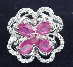 40twc Ruby Gold Vermeil Ring