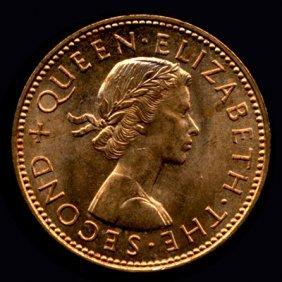 1960-64 New Zealand Half Pennies Unc/bu
