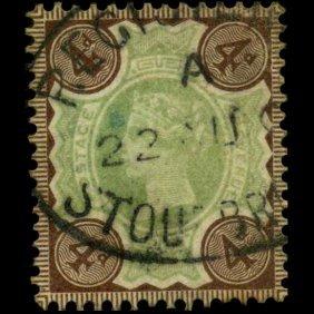 1887 Britain 4p Victoria Stamp