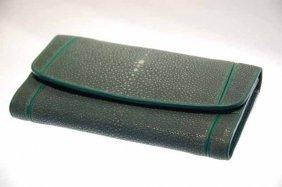 Ladies Stingray Hide Clutch Purse/wallet