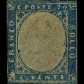1855 Scarce Italy Sardina 20c Stamp