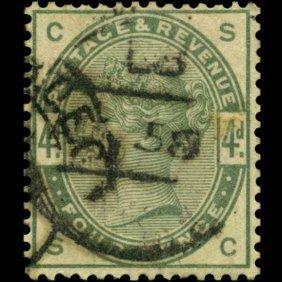 1884 Britain 6p Victoria Stamp