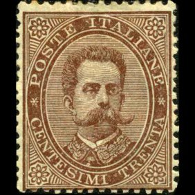 1879 Scarce Italy 30c Stamp Mint Hinged