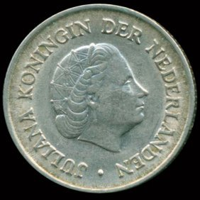 1954 Netherlands 1/4g Au
