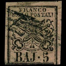 1852 Papal States 5b Stamp