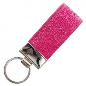 Pink Stingray Hide Key Chains