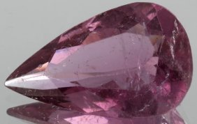4.3ct Rubellite Tourmaline Pear Cut