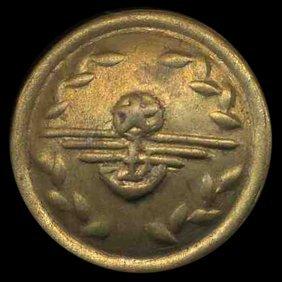 N Korea Mint Vintage Brass Army Uniform Button