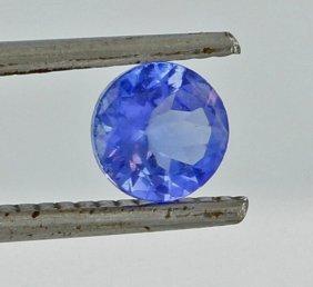 0.85ct Blue Tanzanite Round