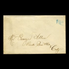 1840s Stampless Cover Scarce