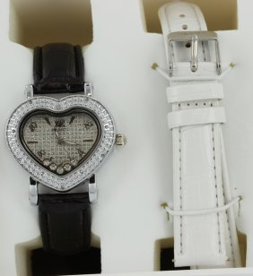 New Ice Time Princess Ladies Diamond Bezel Watch Wg