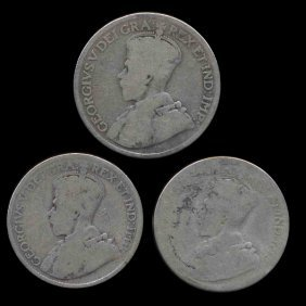 1918-19 Canada 25c 3 Pcs Better Circulated