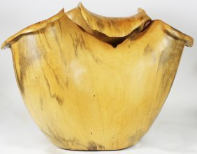 Tamarind Burl Handcarved Wood Vase