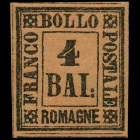 1859 Romagna 4b Stamp Mint Hinged