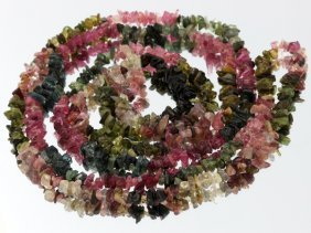 126ct Multi-color Tourmaline Hi-grade Bead Strand