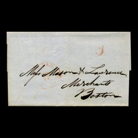 1840s Boston Stampless Cover Scarce
