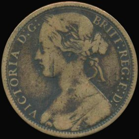 1866 Great Britain Penny Vg/f Error