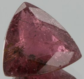 5.15ct Pink Tourmaline Hint Of Watermelon Triangle Cut
