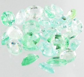 1.00ct Neon Blue Green Cuprian Tourmaline Parcel