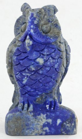 1295ct Handcarved Lapis Owl