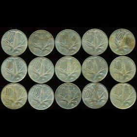 1978 Mexico 10c Xf/au 15pcs Variety