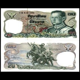1981 Thailand 20 Baht Gem Crisp Unc Note