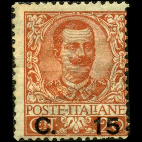 1905 Scarce Italy 15c Overprint Stamp Mint Hinged