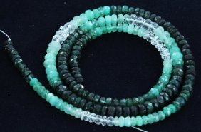 42.8ct Zambian Emerald Faceted Bead Strand