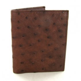 Mens Ostrich Hide Skin Wallet