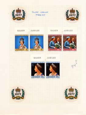 1977 Jersey Mint Stamp Album Page