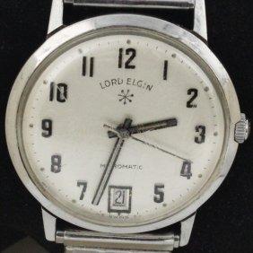 Vintage Mens Lord Elgin Micromatic Watch