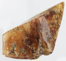470ct Natural Peru Amber Polished Rough W/inclusions