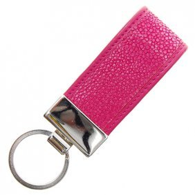 Pink Stingray Hide Key Chains