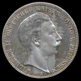 1912 Germany Prussia 3 Mark Gem Proof