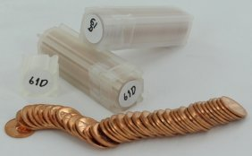 1961 Unsearched Estate Hoard Cent Bu 3 Rolls 50