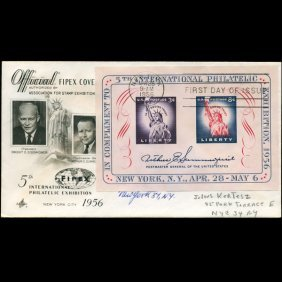 1954 Us First Day Exhibition Sheet Postal Cover
