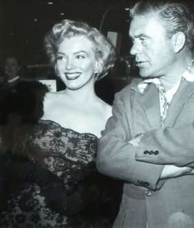 Marilyn Monroe With Man, Candid Photograph, 1950's,