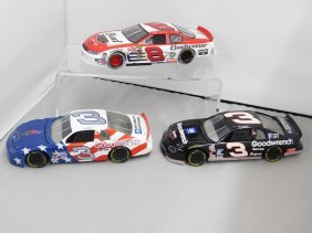 Three Revell Nascar Racing Collectible Die Cast Stock