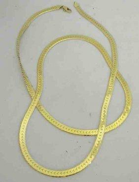 """30"""" 14K Herringbone Ladies Chain Weighs 21.4 Pennyweigh"""