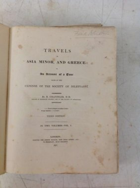 Book-2 Vols-travels In Asia Minor, And Greece: Or, An