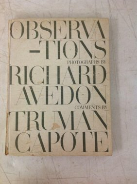 Book- Observations Photographs By Richard Avedon.
