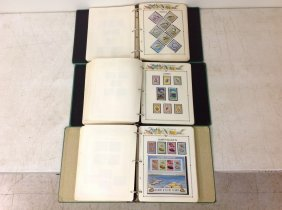 (3) Albums Of Fish On Stamps, Pages In Each Album Are