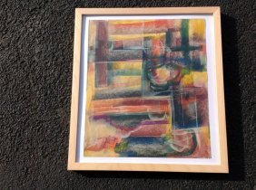 Rolph Scarlett Abstract On Paper, Possibly Pastel And