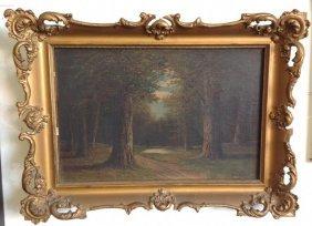 T C Carr O/c Landscape Circa 1900 In Period Frame